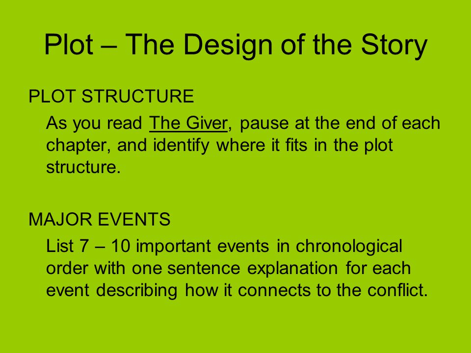 Plot – The Design of the Story