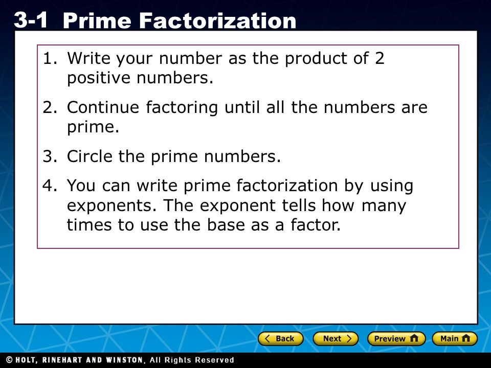 Write your number as the product of 2 positive numbers.