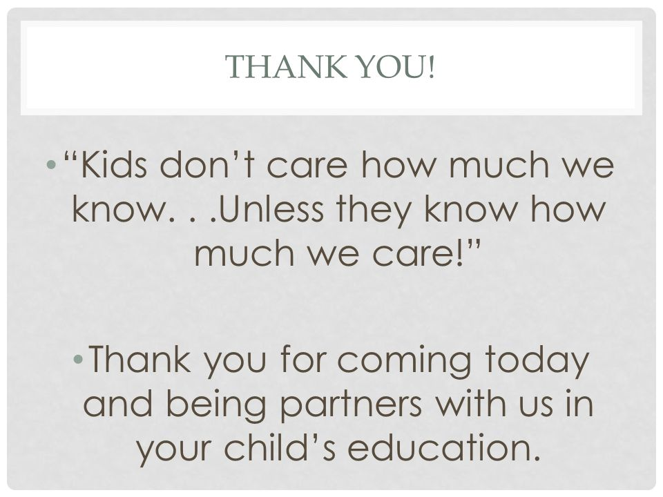Thank you! Kids don't care how much we know. . .Unless they know how much we care!