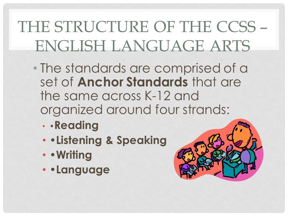 The Structure of the CCSS – English Language Arts