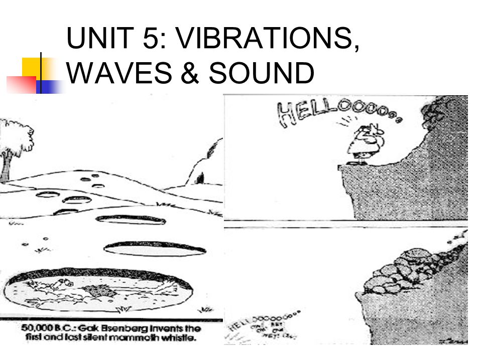 UNIT 5: VIBRATIONS, WAVES & SOUND