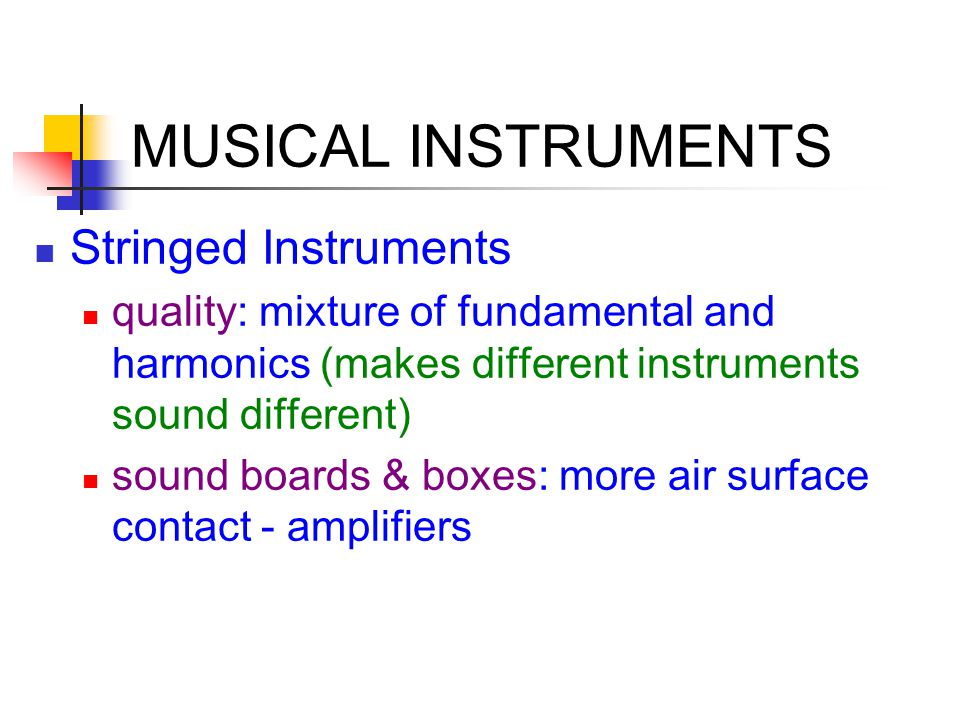 MUSICAL INSTRUMENTS Stringed Instruments