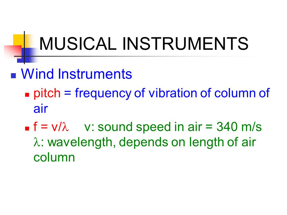 MUSICAL INSTRUMENTS Wind Instruments