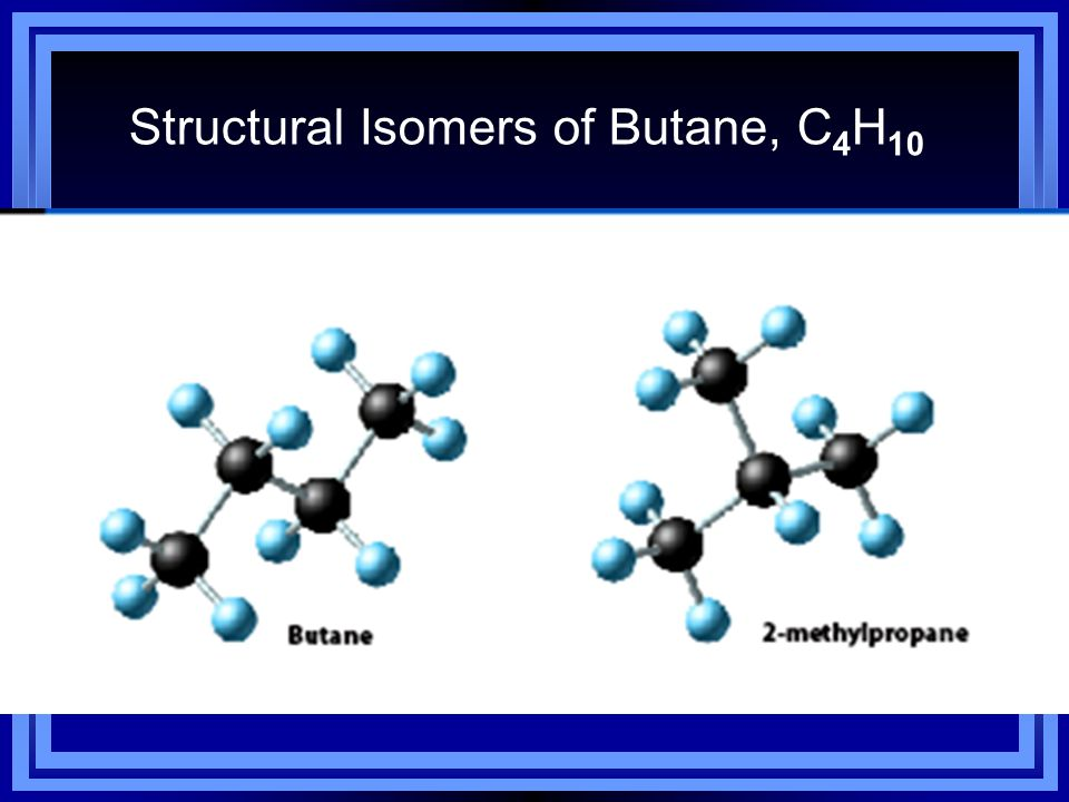 Structural Isomers of Butane, C4H10