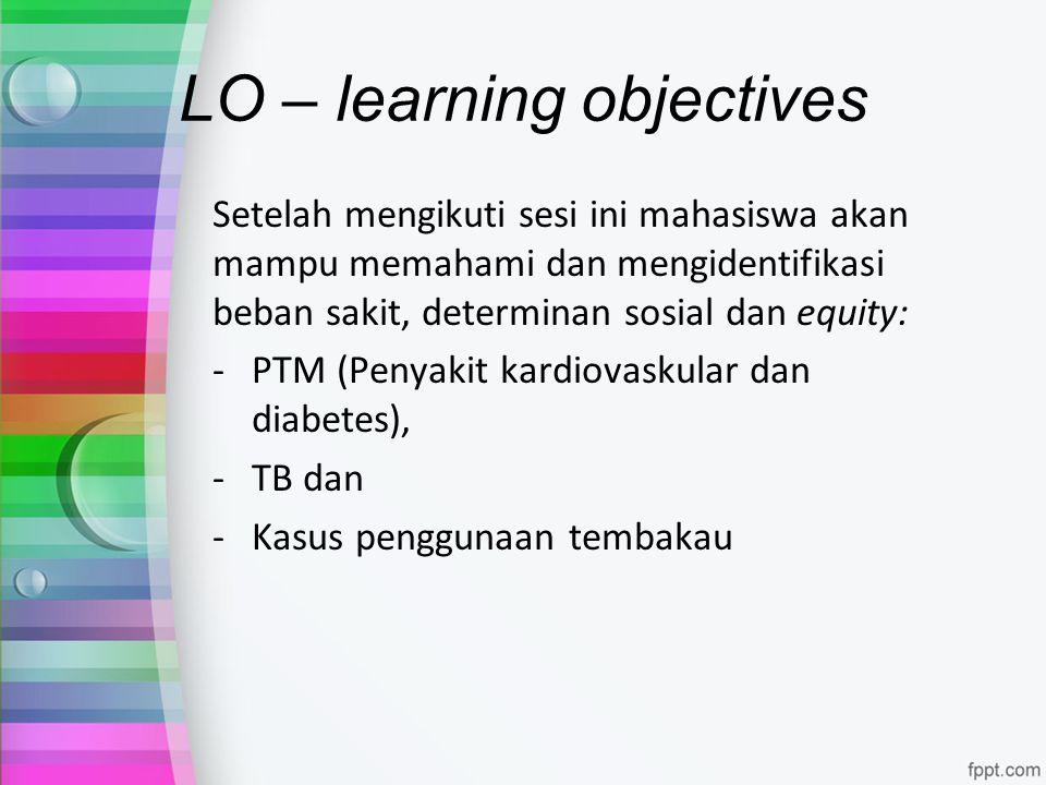 LO – learning objectives