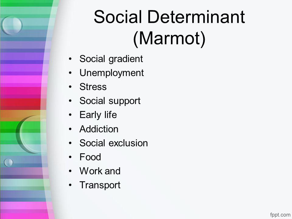 Social Determinant (Marmot)