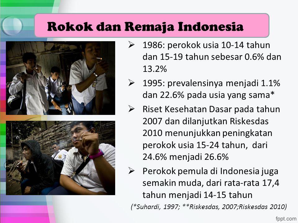 Rokok dan Remaja Indonesia