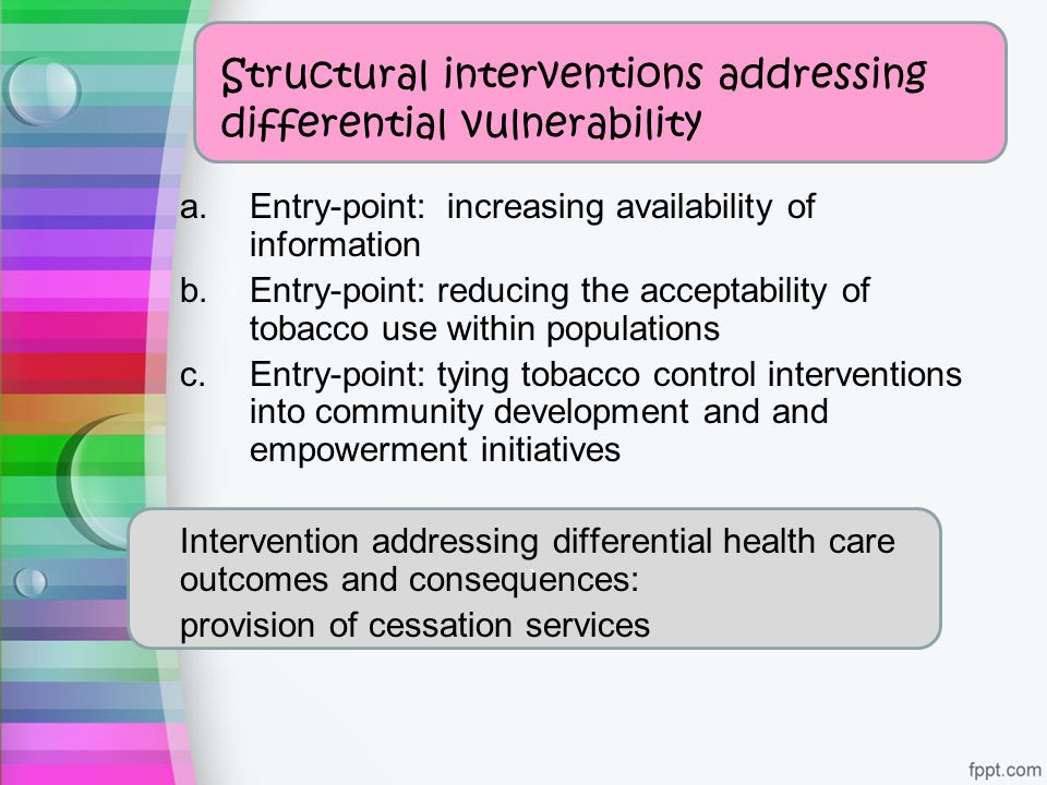 Structural interventions addressing differential vulnerability
