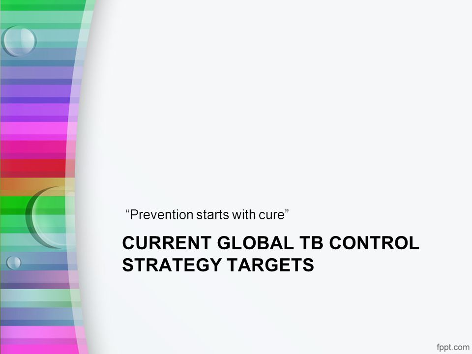 Current global TB control strategy targets