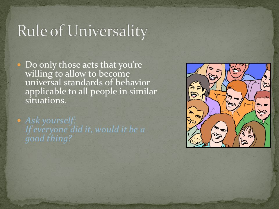 Rule of Universality