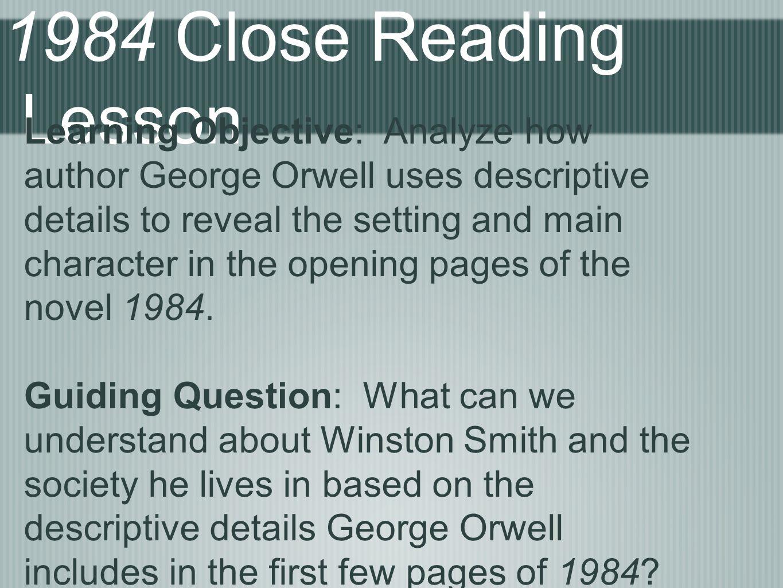 1984 Close Reading Lesson