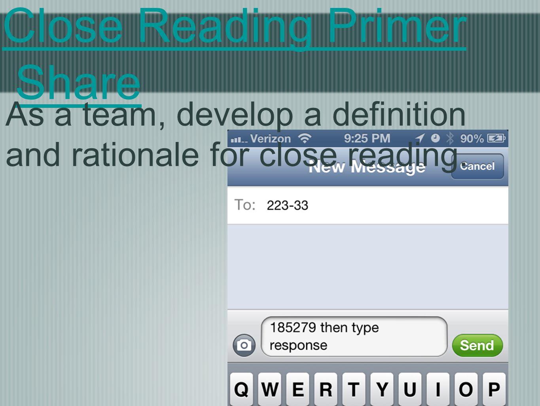 Close Reading Primer Share