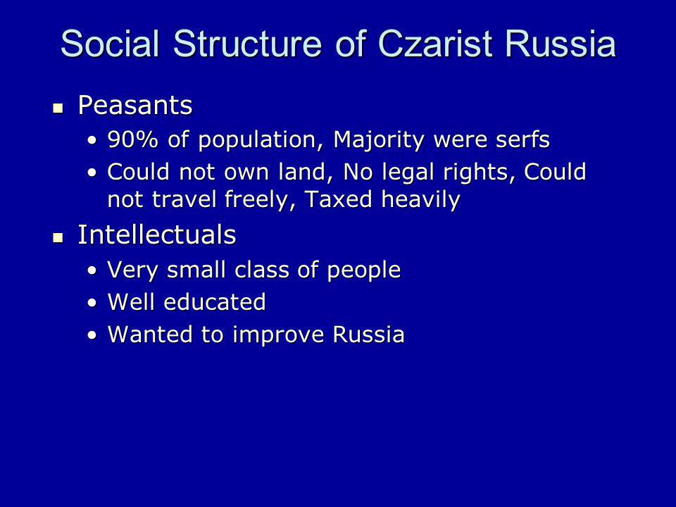 Social Structure of Czarist Russia