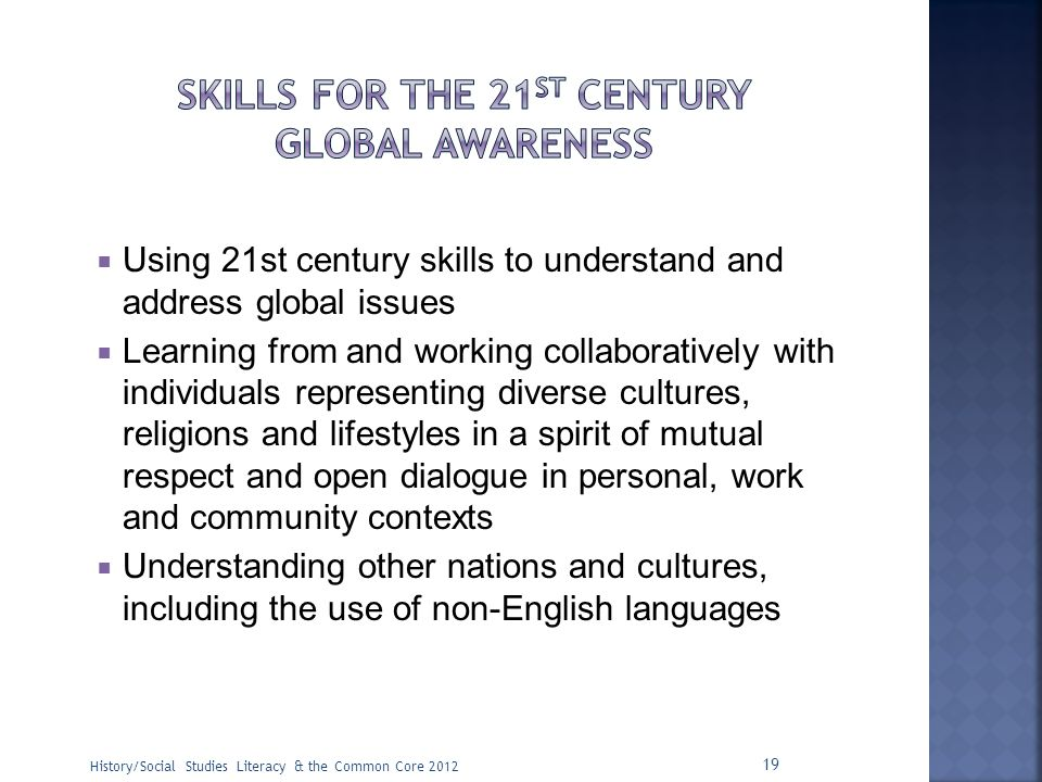 Skills for the 21st Century Global Awareness