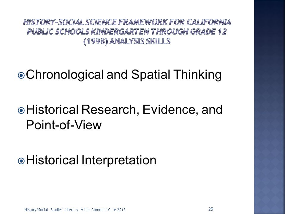Chronological and Spatial Thinking