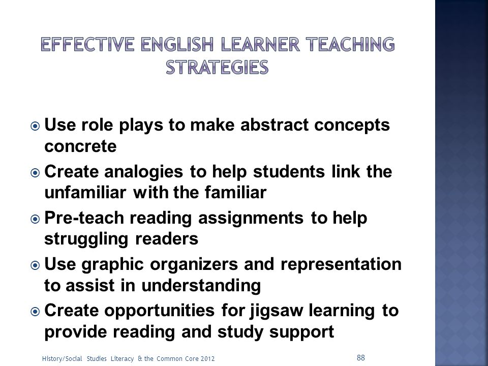 Effective English learner Teaching Strategies