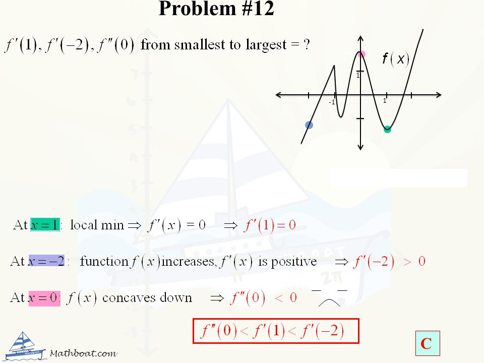 Problem #12 1 -1 1 Mathboat.com C