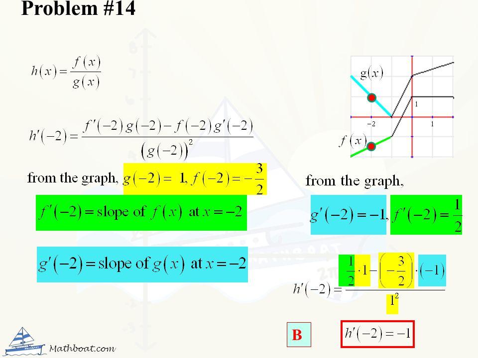 Problem #14 B Mathboat.com