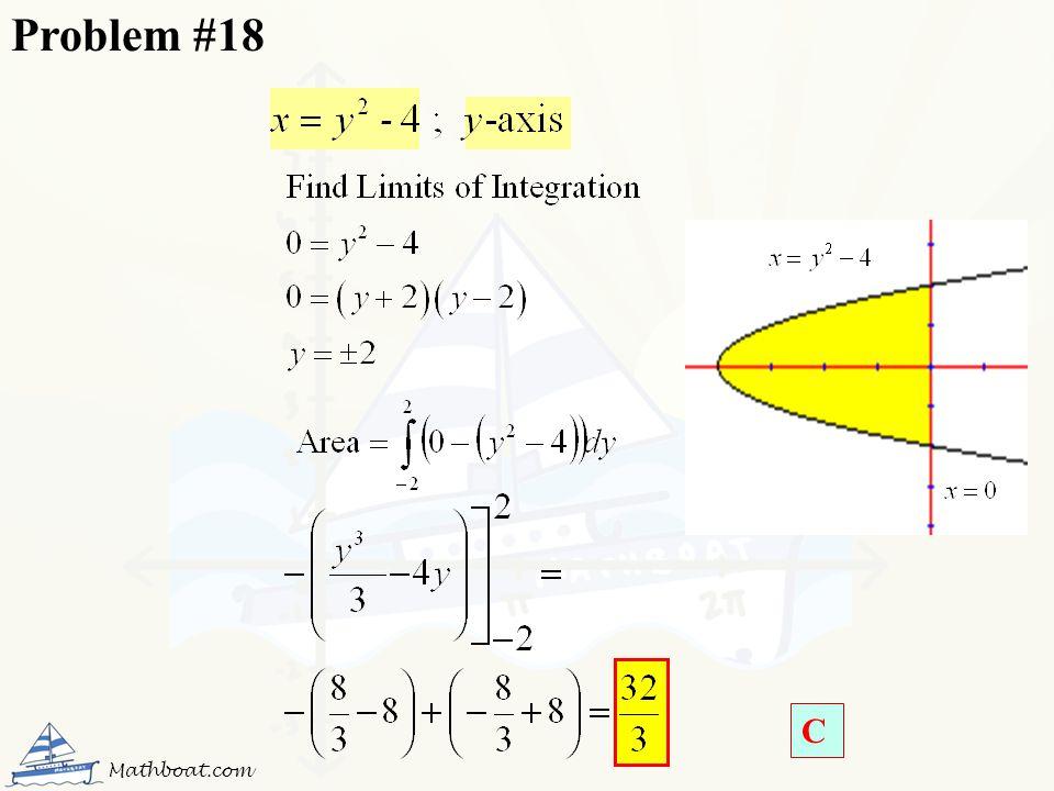 Problem #18 C Mathboat.com