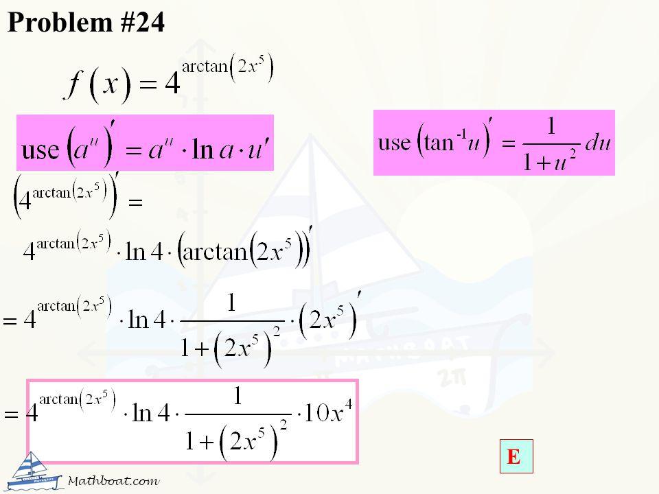 Problem #24 E Mathboat.com