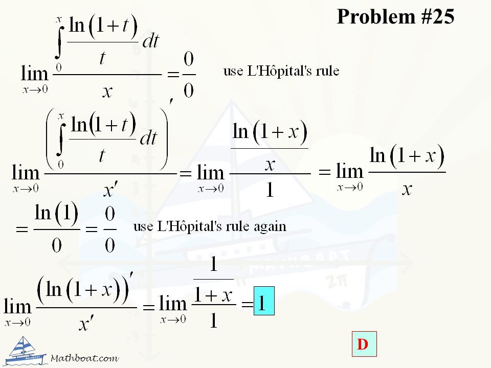 Problem #25 D Mathboat.com