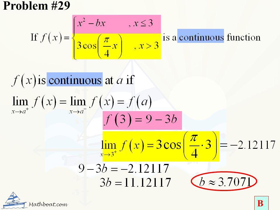 Problem #29 Mathboat.com B
