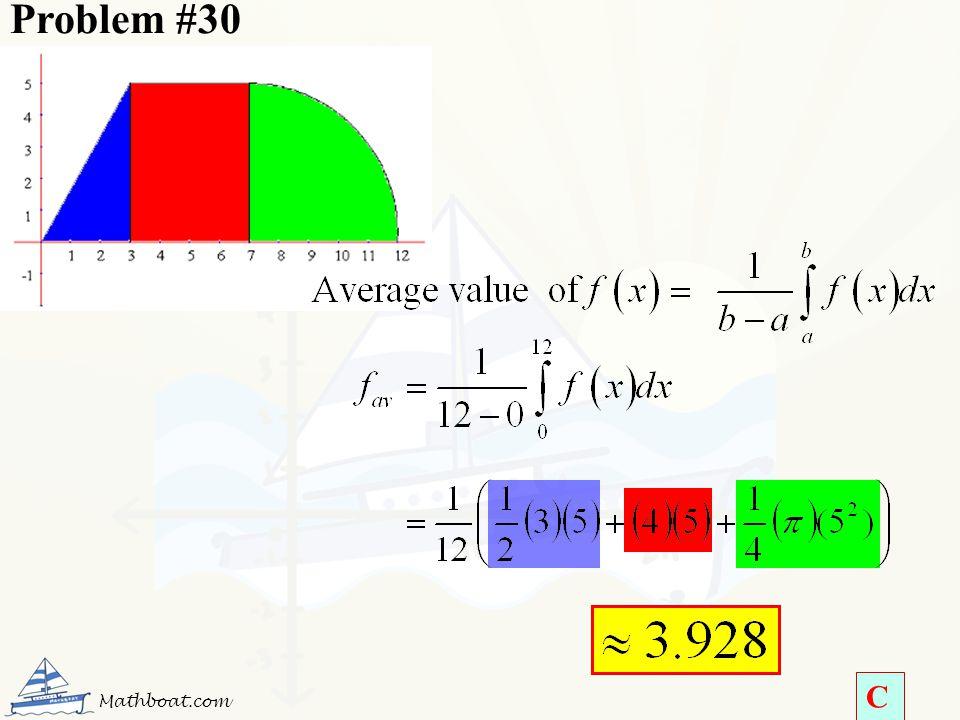 Problem #30 Mathboat.com C