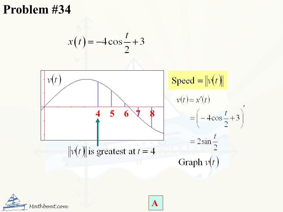 Problem #34 4 5 6 7 8 4 5 6 7 8 Mathboat.com A