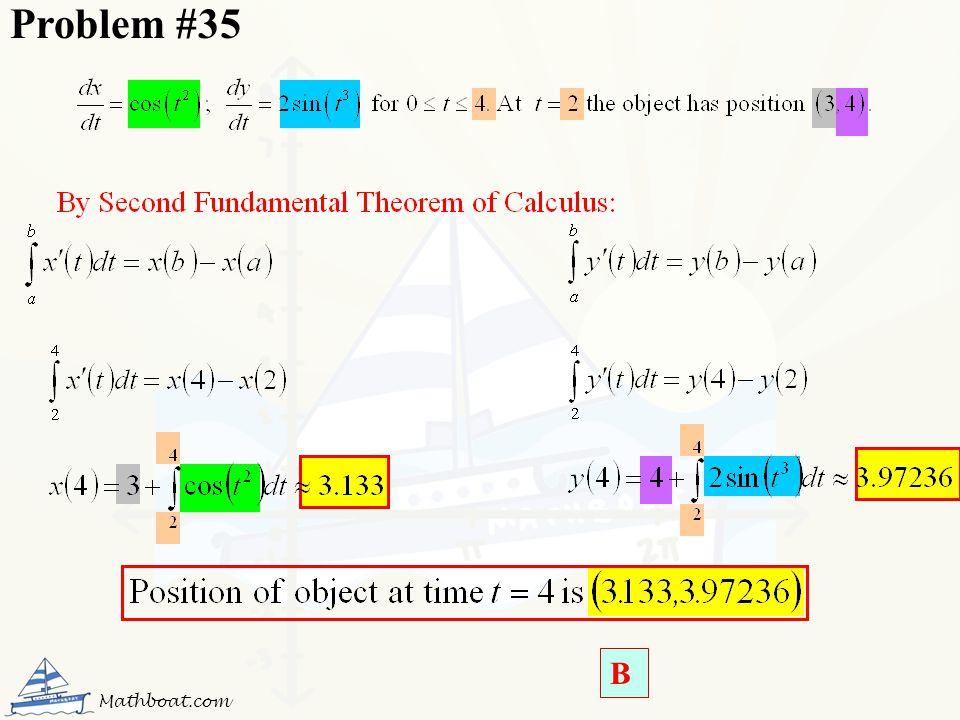 Problem #35 B Mathboat.com