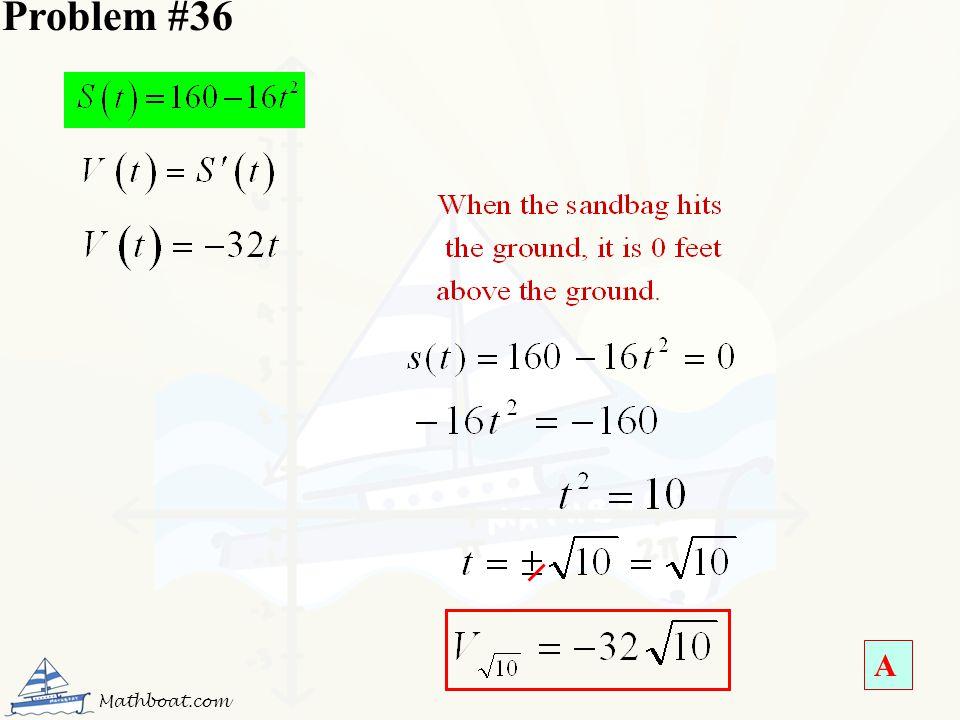 Problem #36 A Mathboat.com