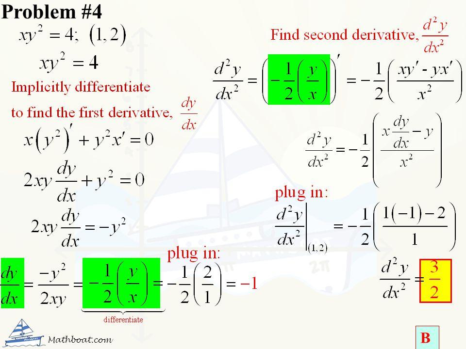 Problem #4 Mathboat.com B