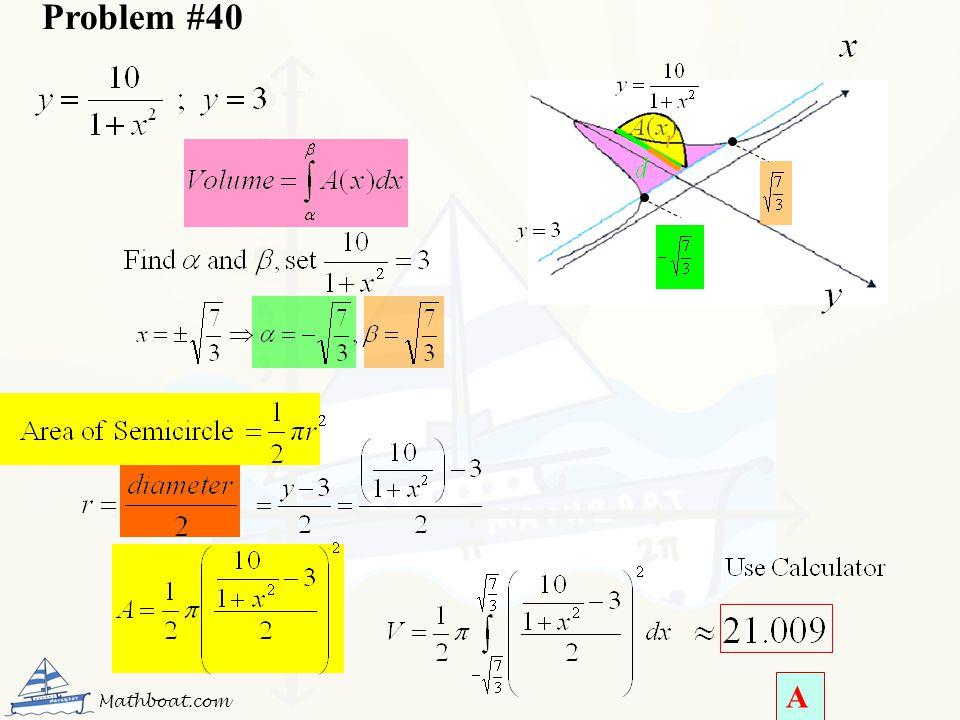 Problem #40 Mathboat.com A