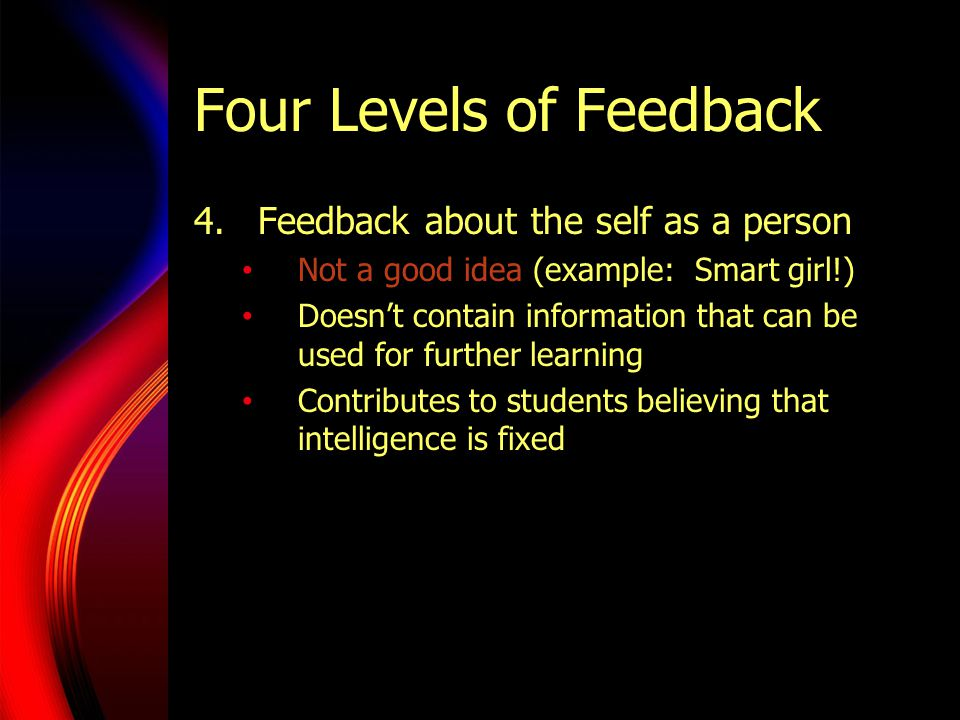 Four Levels of Feedback