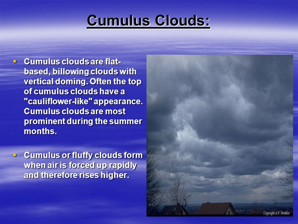 Cloud Formations Melissa White. - ppt video online download