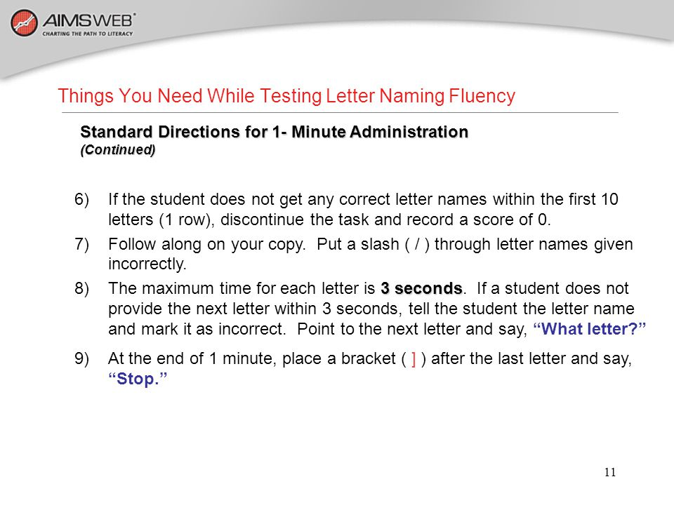 Things You Need While Testing Letter Naming Fluency