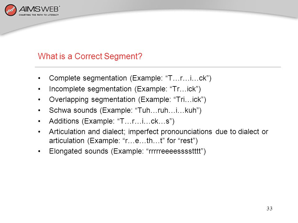 What is a Correct Segment