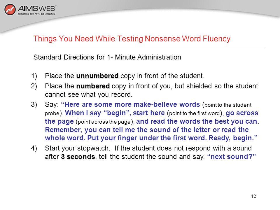 Things You Need While Testing Nonsense Word Fluency