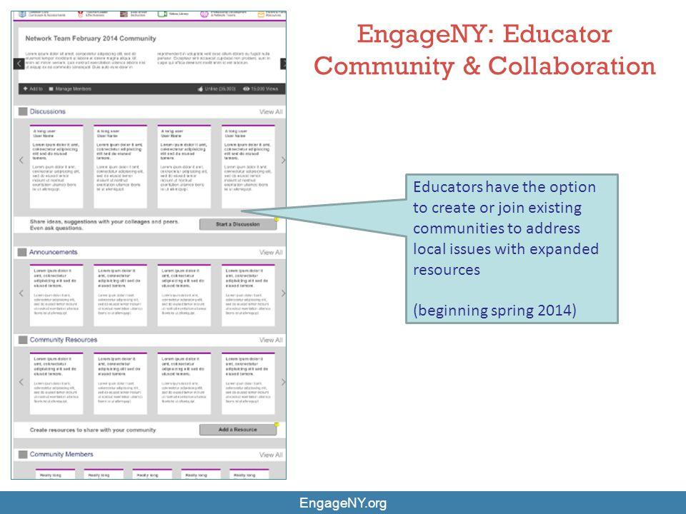 EngageNY: Educator Community & Collaboration