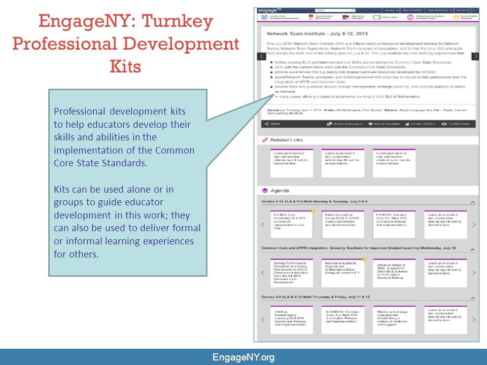 EngageNY: Turnkey Professional Development Kits