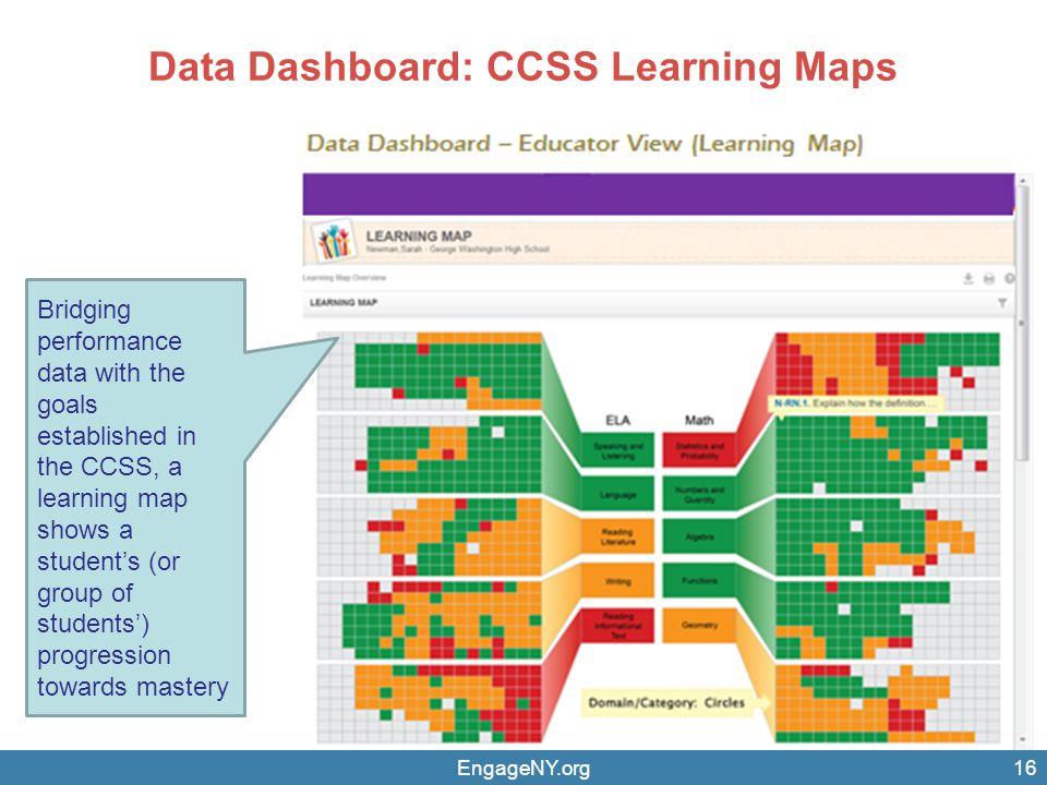 Data Dashboard: CCSS Learning Maps