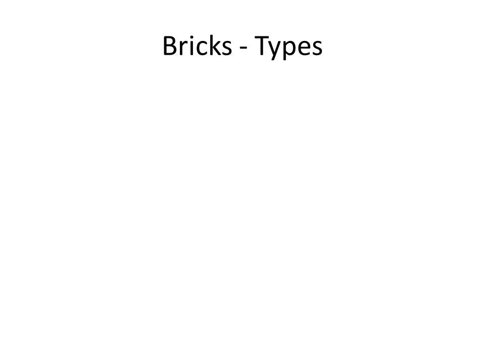 Bricks - Types