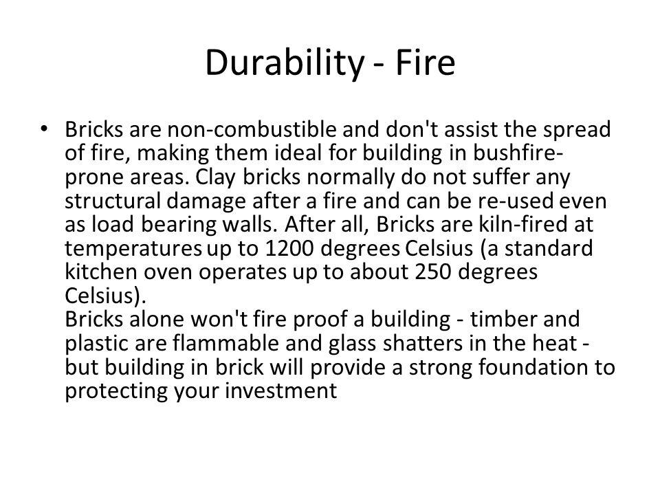 Durability - Fire