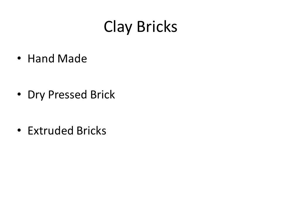 Clay Bricks Hand Made Dry Pressed Brick Extruded Bricks