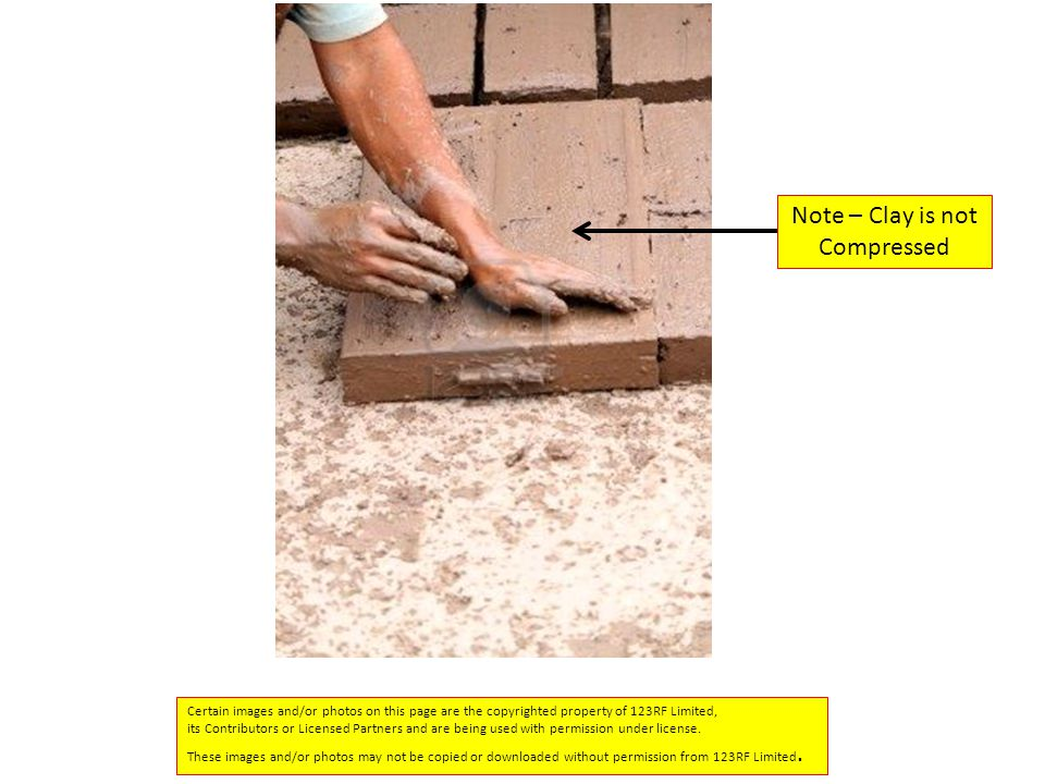 Note – Clay is not Compressed
