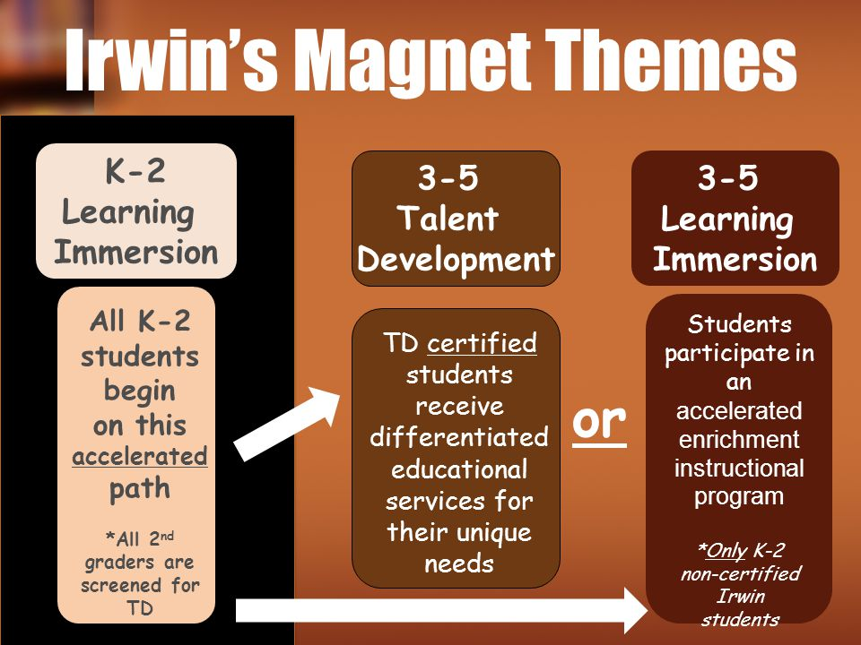 Irwin's Magnet Themes or K-2 Learning Immersion 3-5 Talent Development
