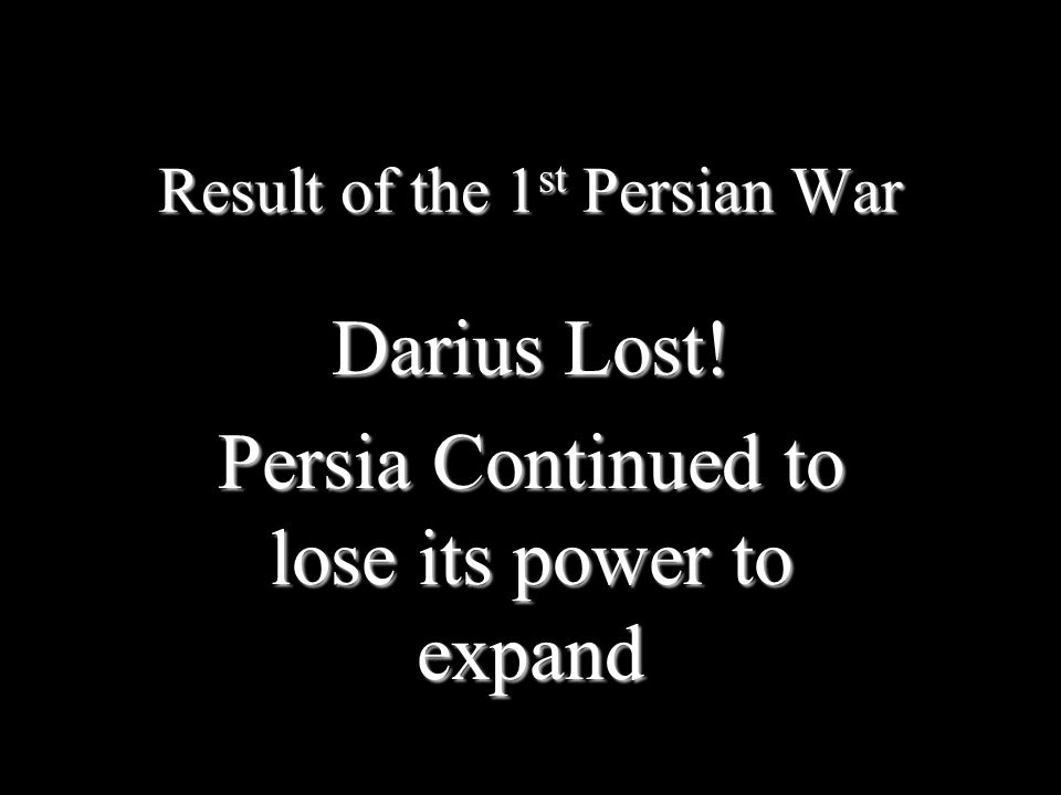 Result of the 1st Persian War