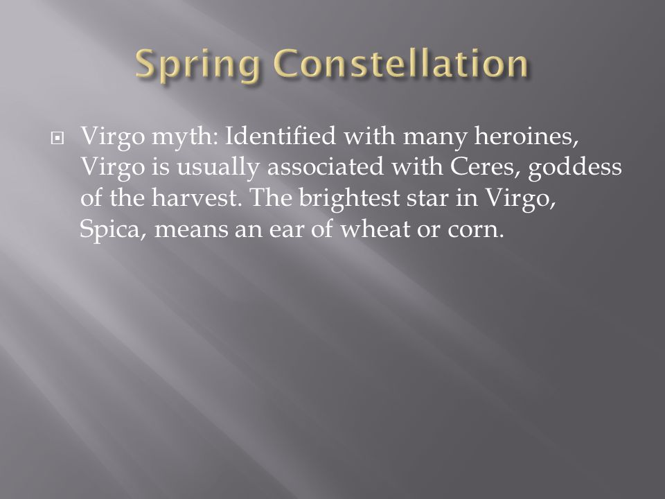 Spring Constellation
