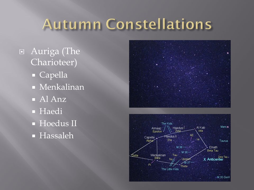 Autumn Constellations