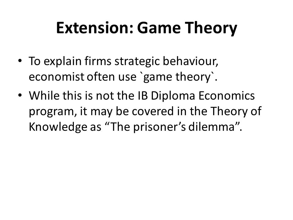 Extension: Game Theory