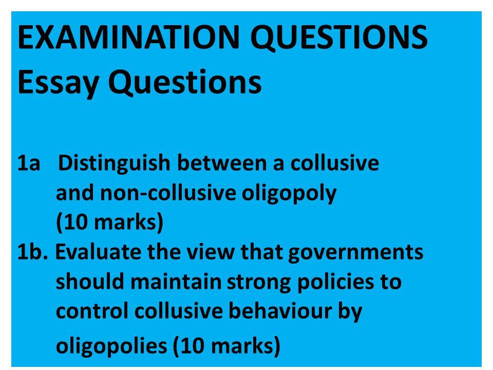 EXAMINATION QUESTIONS Essay Questions